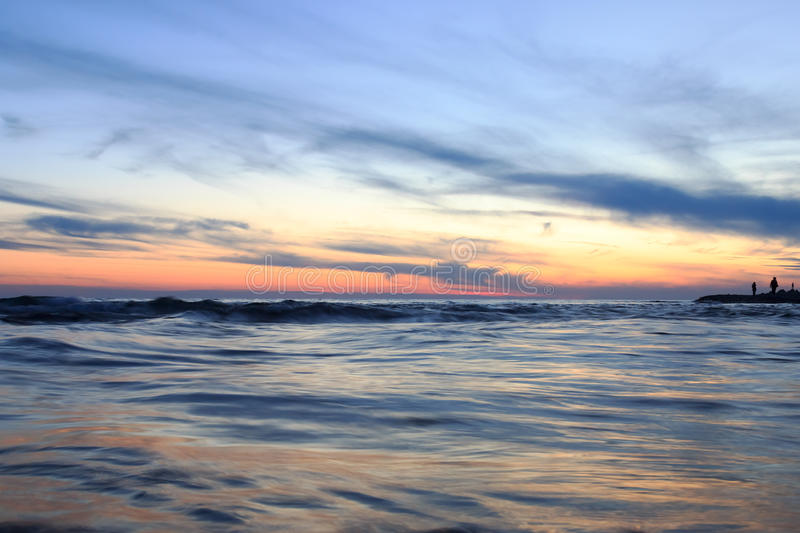 Sea sunset royalty free stock image