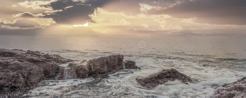 Sea sunset. royalty free stock image