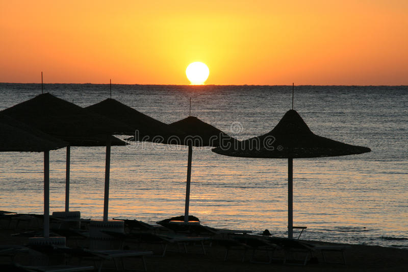 Sea sunset.Egypt royalty free stock images