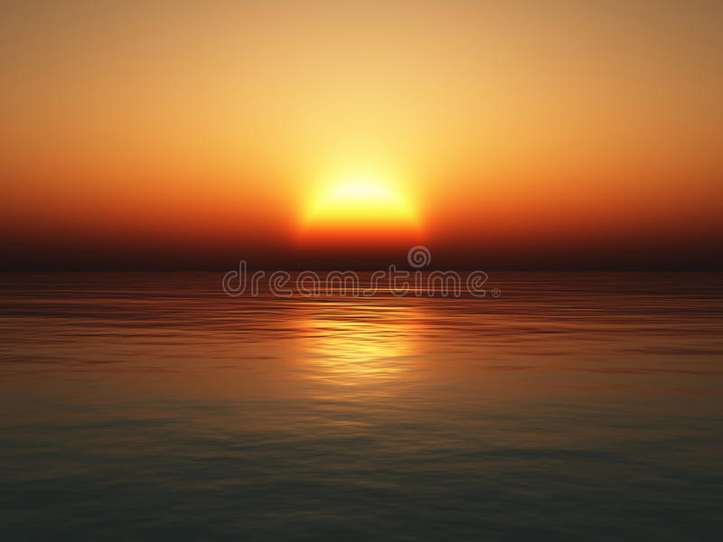 Download Sea sunset stock photo. Image of horizontal, scenics - 34176278