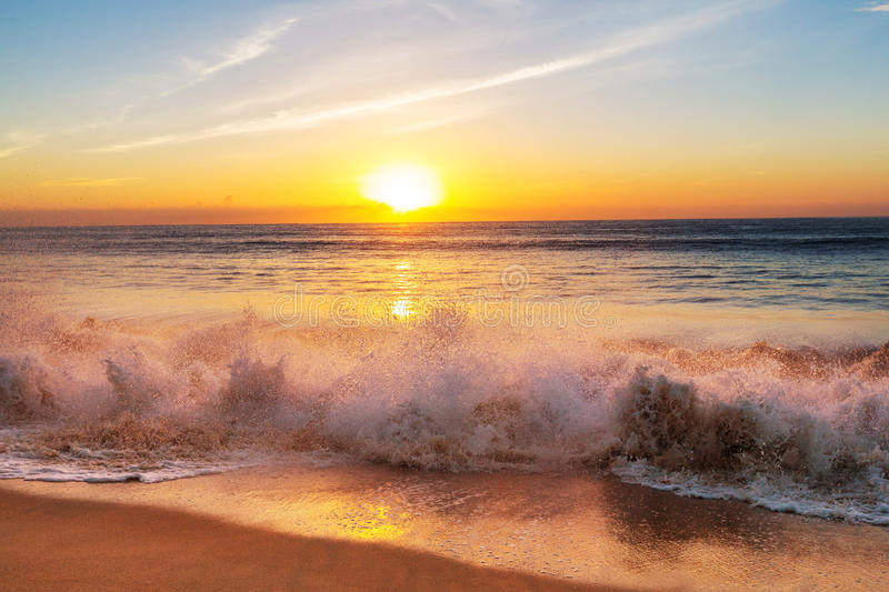 Sea sunset stock images