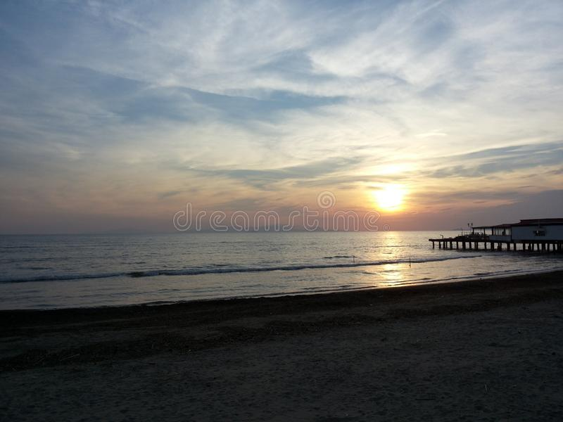 Download Sea sunset editorial stock photo. Image of beach, sunset - 42791033