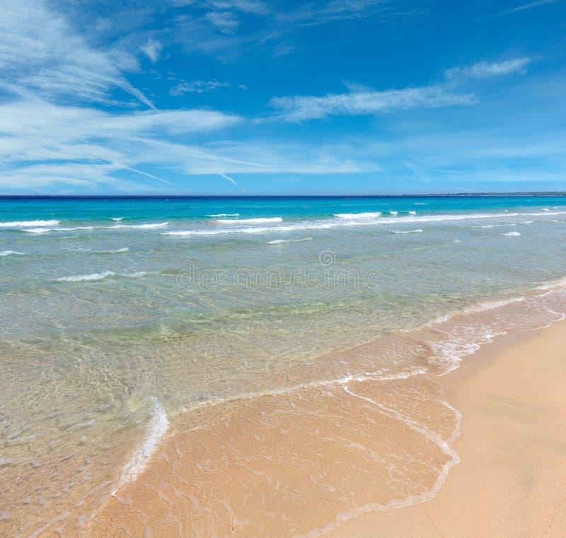 Sea surf on beach royalty free stock photos