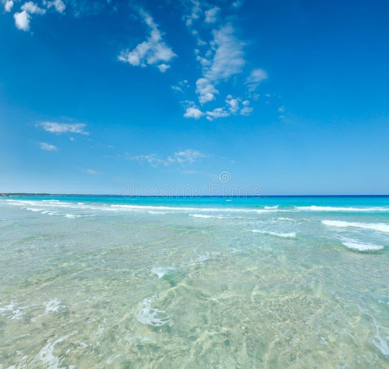 Sea surf on beach royalty free stock photography