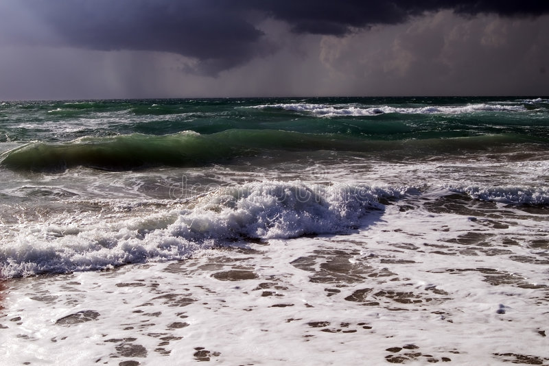 Download Sea Surf In A Thunder-storm Royalty Free Stock Image - Image: 5850306