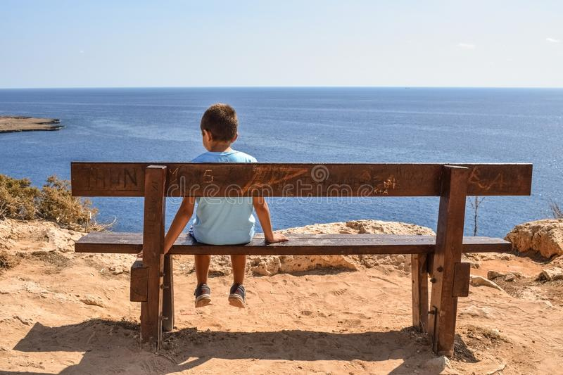 Sea, Table, Furniture, Vacation stock image