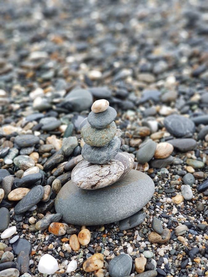 Stone at sea stock photography