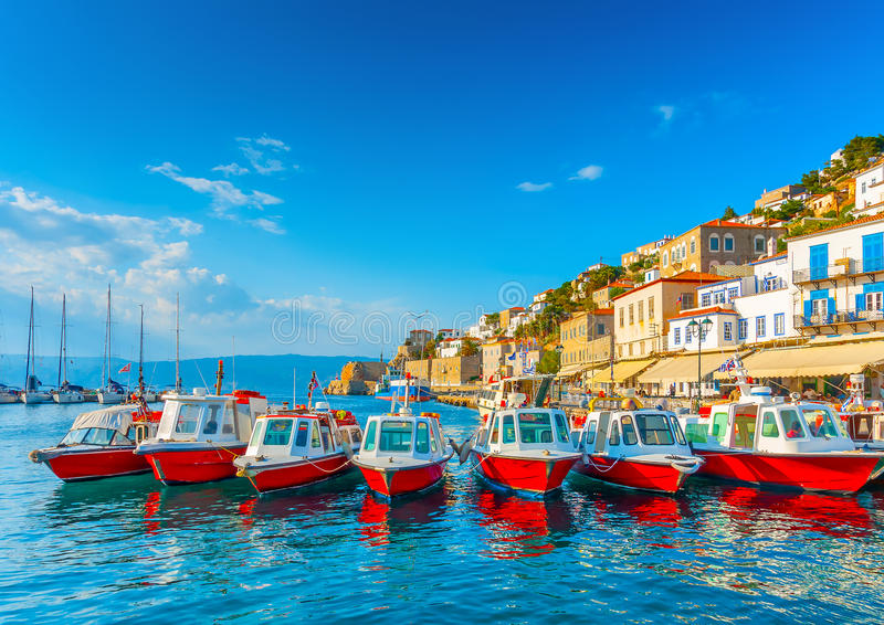 Download Sea Taxi boats stock image. Image of harbour, color, fishing - 41353521