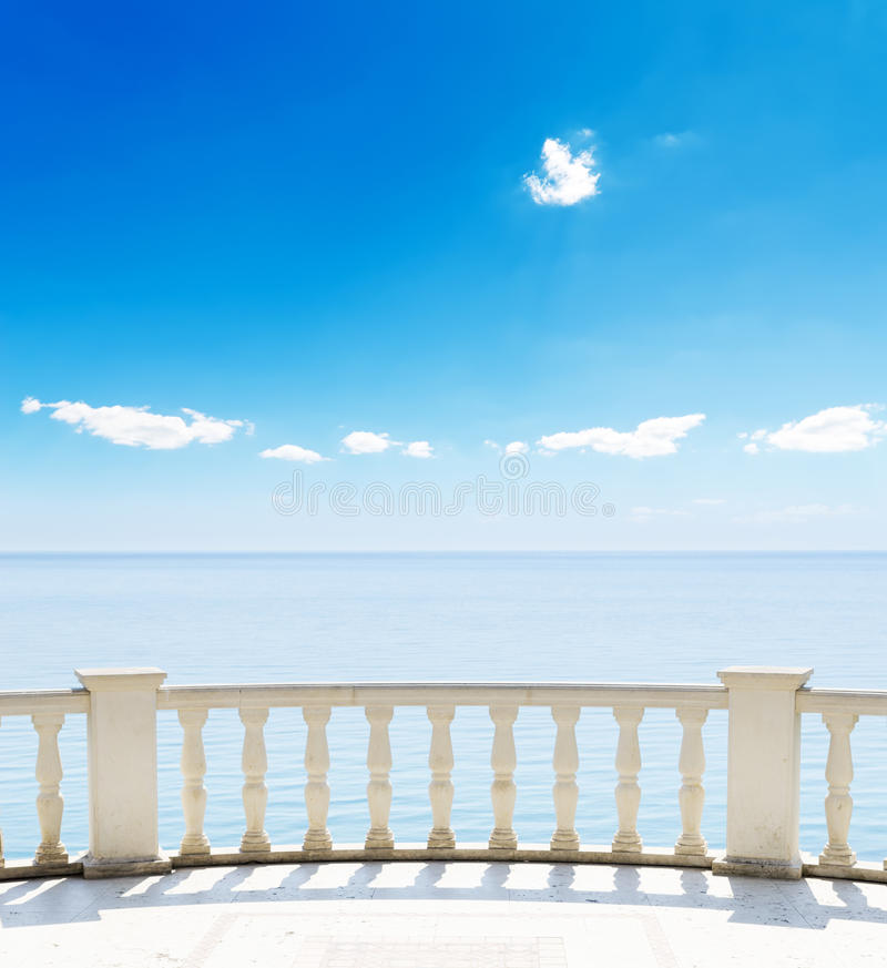 Sea From A Terrace Stock Photos