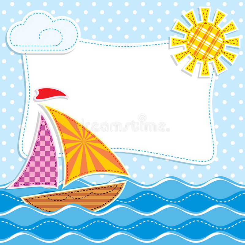 Download Sea textiles stock illustration. Image of yacht, design - 26828337