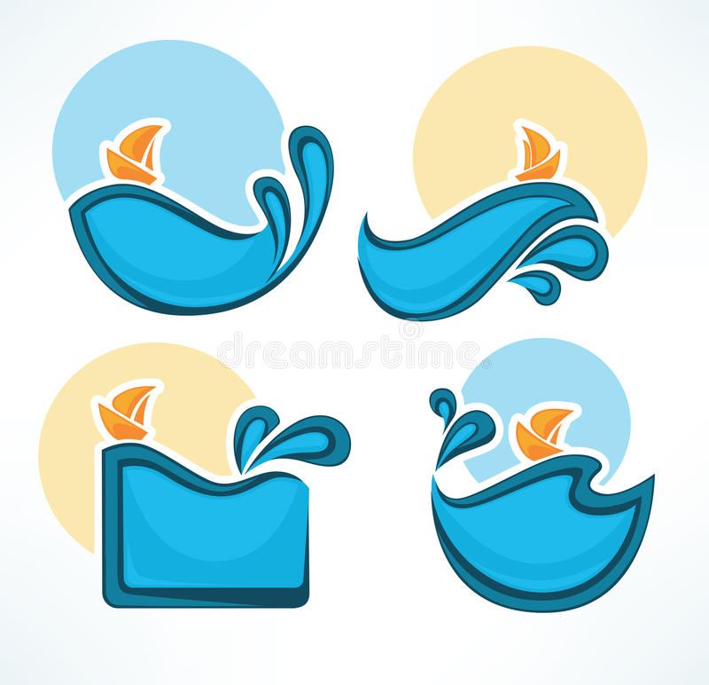 Sea time royalty free illustration