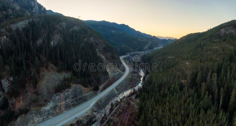 Sea to Sky Highway Aerial arkivbild
