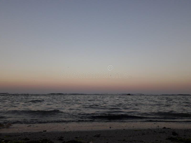 Sea tonight stock photos