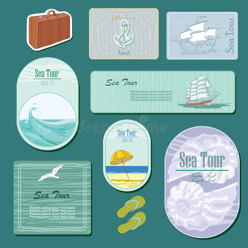 Download Sea tour stock vector. Image of announcement, paper, pattern - 31206538