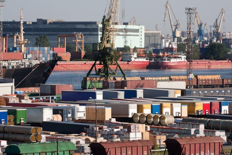 Sea trading port stock photos