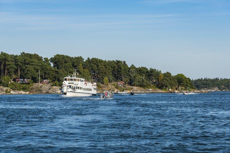Sea traffic Stockholm archipelago Dalarö royalty free stock photo