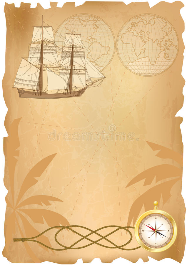 Download Sea travel background stock vector. Image of globe, navy - 18970813