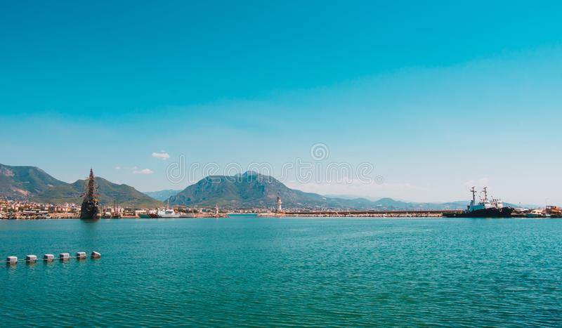 Sea in Turkey. Turkish coast. Holidays in Turkey. royalty free stock images