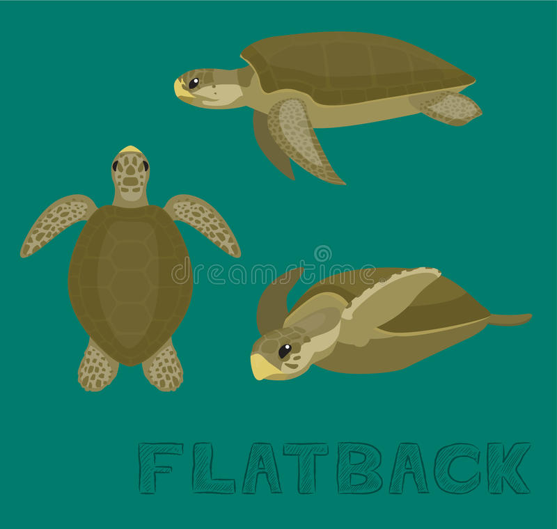 sea turtle flatback cartoon vector illustration stock vector rh dreamstime com Sea Turtle Designs Sea Turtle Line Drawing
