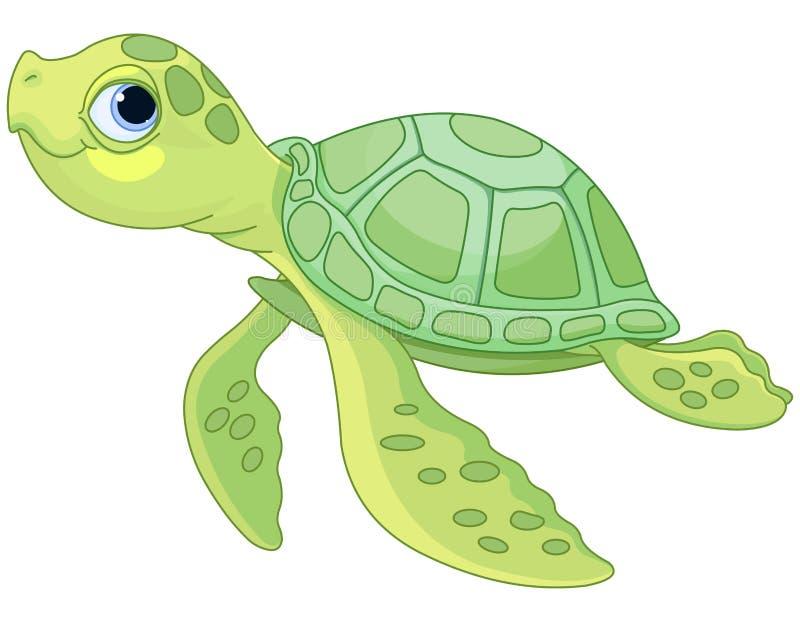 Sea Turtle. Illustration of very cute sea turtle vector illustration
