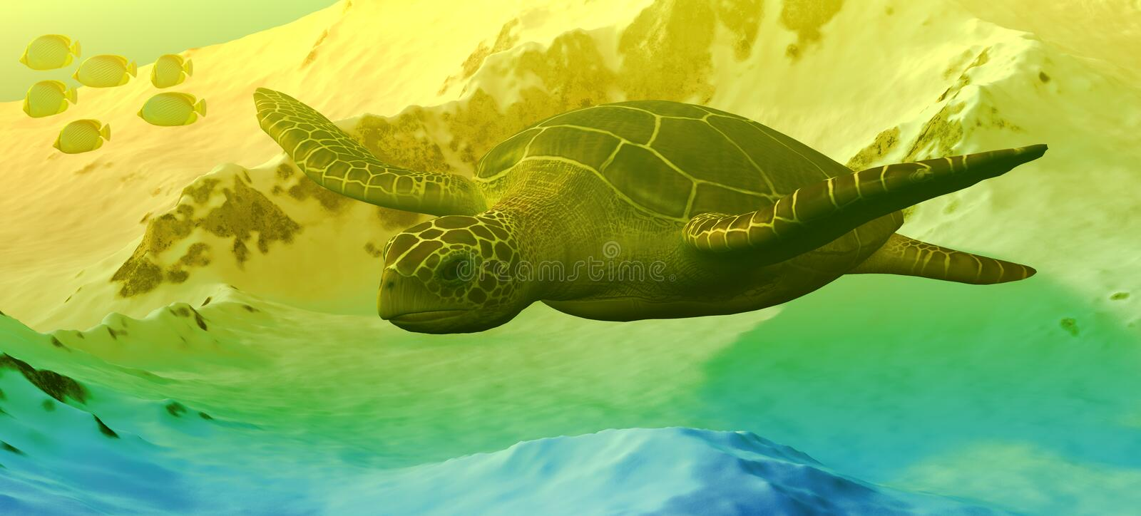Download Sea Turtle Swimming stock illustration. Image of turtle - 19368533