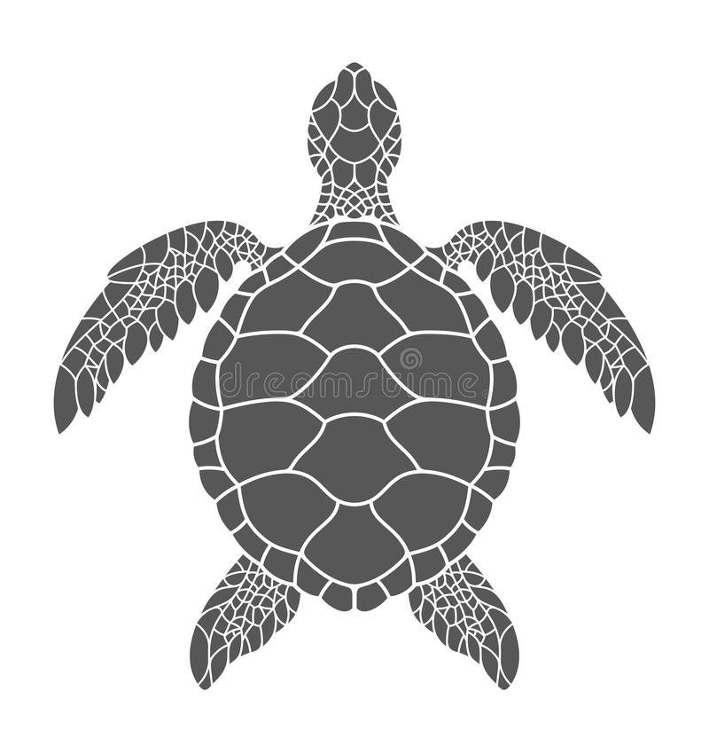 Sea turtle vector illustration