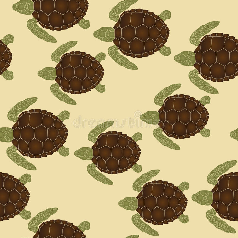 Download Sea turtles pattern stock vector. Image of drawing, swim - 28471375