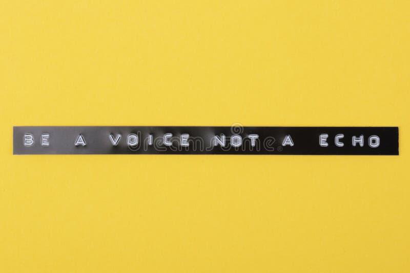 Sea una voz fotografía de archivo