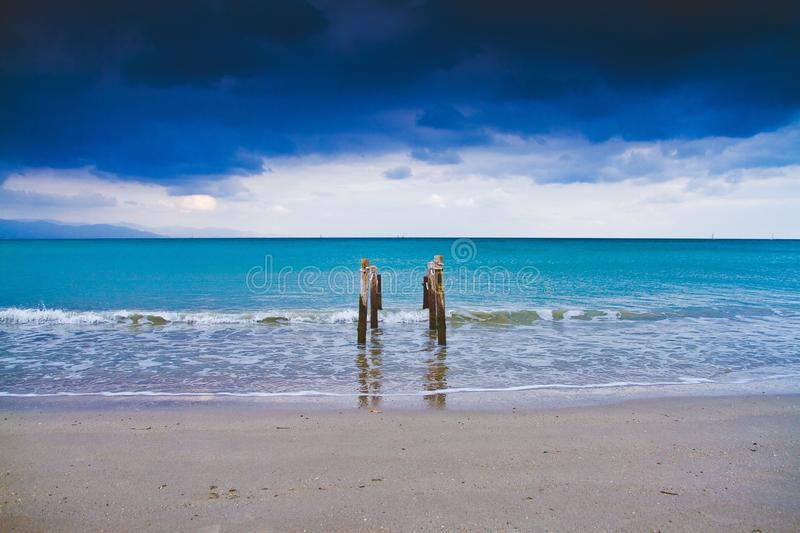 Sea Under Blue and White Cloudy Sky during Daytime stock image