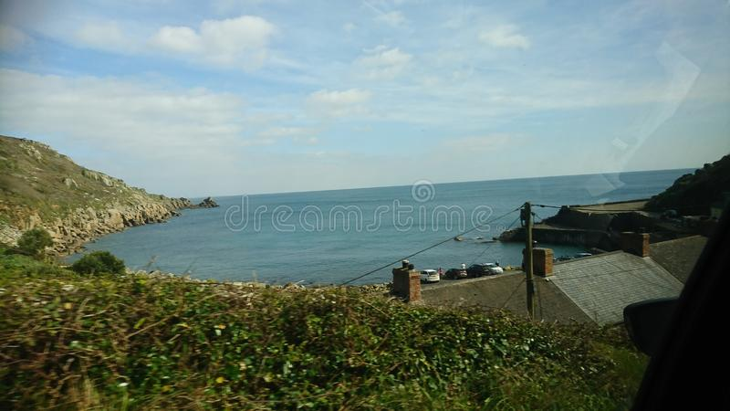 Sea from up high royalty free stock images