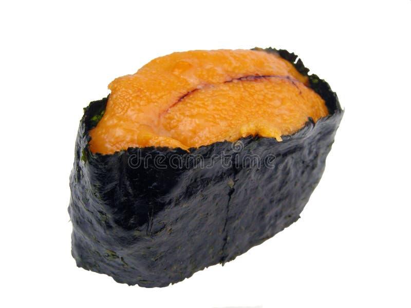 Sea urchin roe sushi stock photos