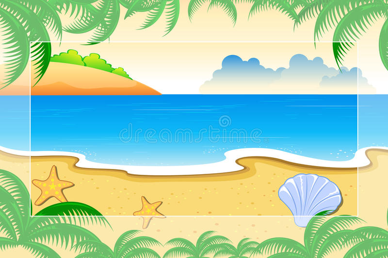 Download Sea View stock vector. Illustration of beach, summer - 18202759