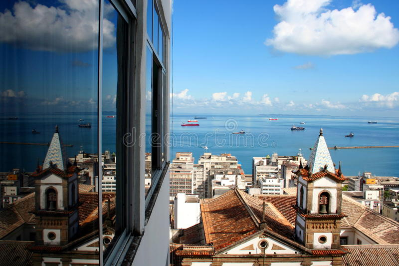 Download Sea view stock photo. Image of window, south, salvator - 18204584