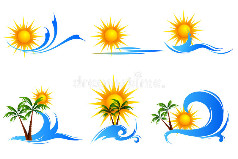 Download Sea View stock vector. Image of blue, dawn, sunrise, dusk - 18686582