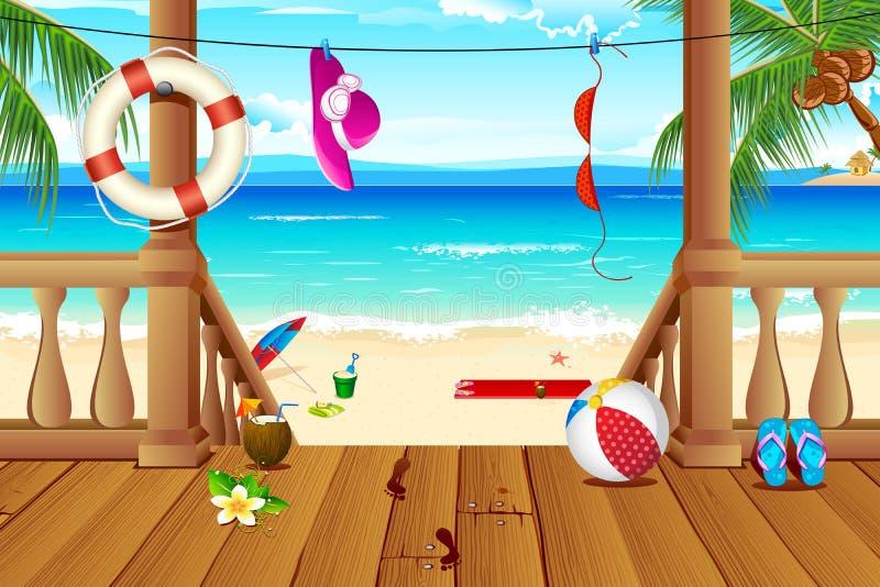 Sea View stock illustration