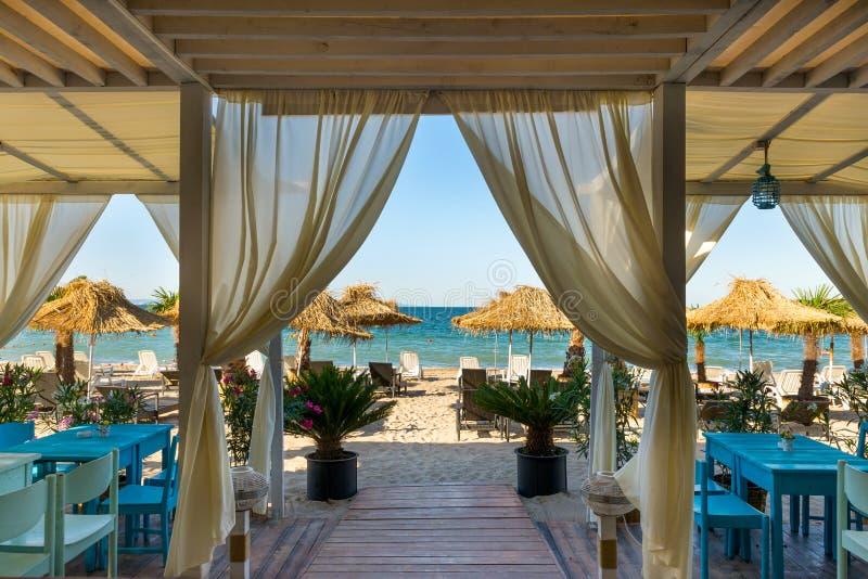 Sea view from Beach restaurant stock photos
