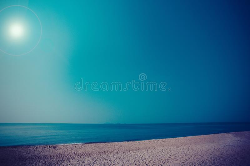 Sea view with beautiful beach royalty free stock image