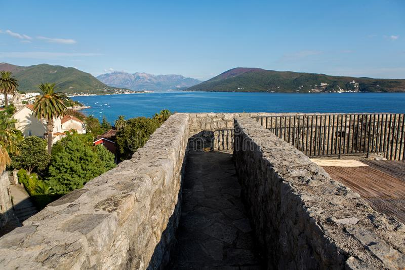 Sea view from the fortress of Herceg-Novi royalty free stock images