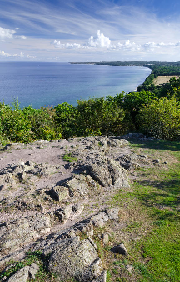 Download Sea view from the hill stock photo. Image of scandinavia - 26797526