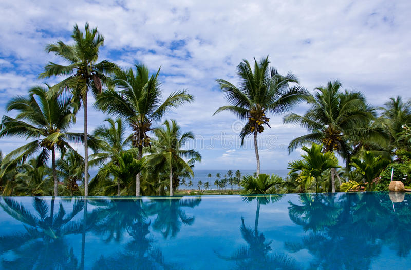 Sea view Infinity Pool royalty free stock photography