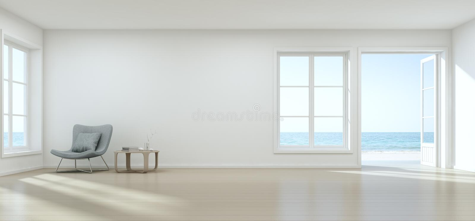3D Rendering Of Interior With Chair And Coffee Table