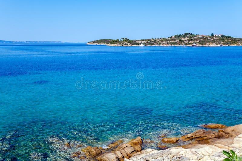 Sea view in Sithonia, Chalkidiki royalty free stock photos
