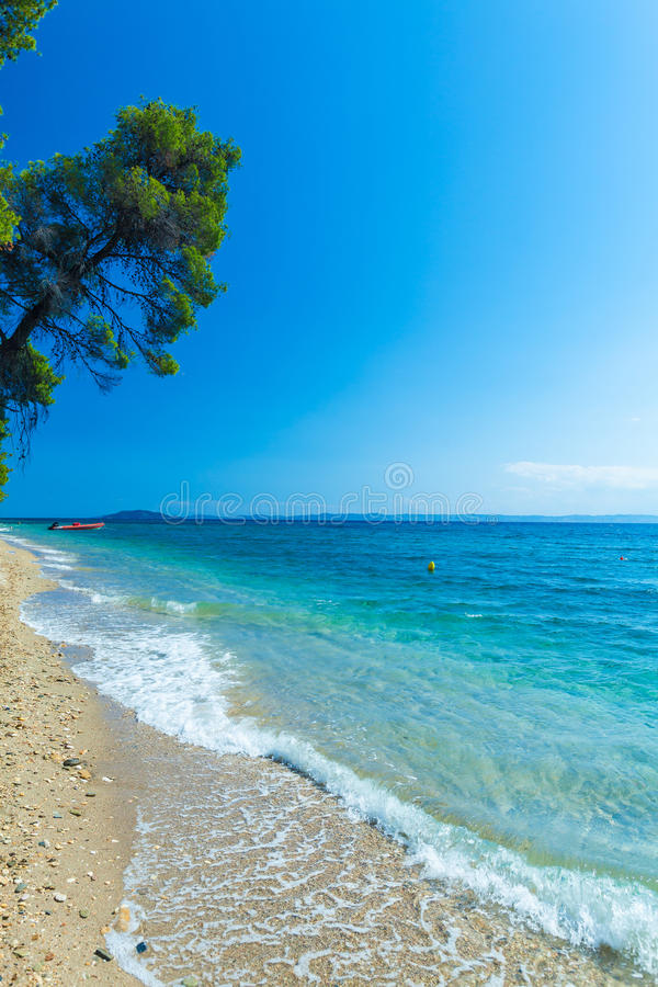 Sea view in Sithonia, Chalkidiki stock images