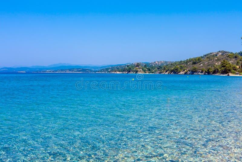 Sea view in Sithonia, Chalkidiki royalty free stock image