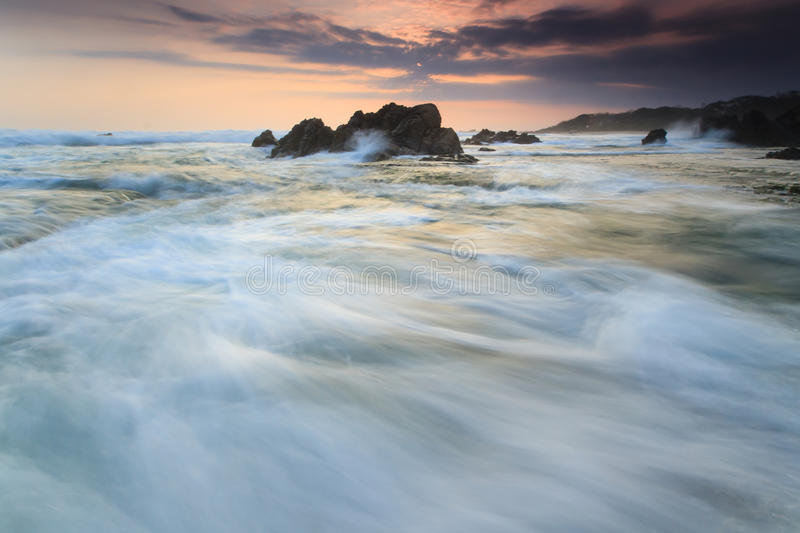 Sea view, sunset royalty free stock photo
