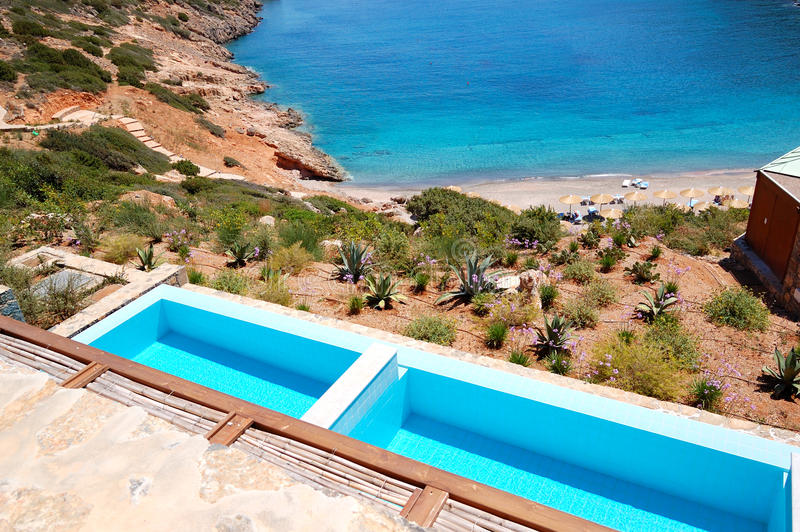 Download Sea View Swimming Pools At The Luxury Villa Stock Photo - Image: 29107376