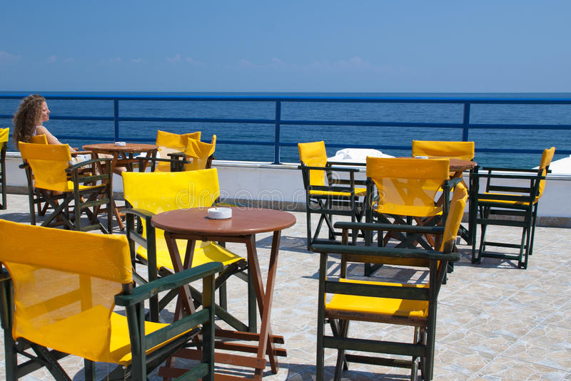 Download Sea view from a terrace stock image. Image of chair, relax - 23860679
