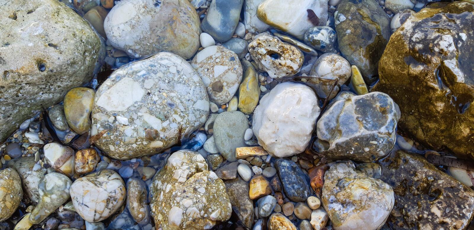 Stones Background Vertical Isolated, Beach view royalty free stock image