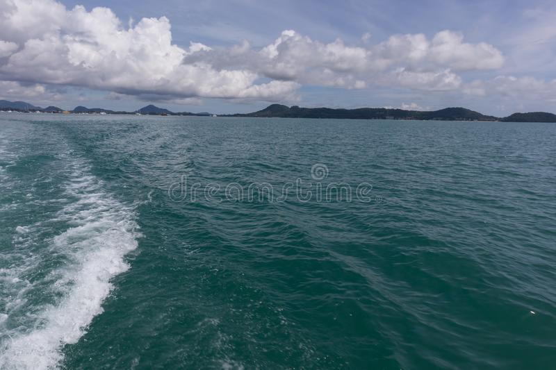 Sea view yacht cruise at Phuket, Thailand. Sea view in yacht cruise at Phuket, Thailand stock photo
