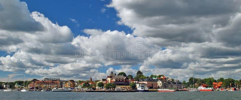 Sea village Waxholm royalty free stock images